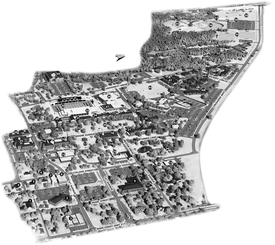 University Of Mary Hardin Baylor Map Of Campus